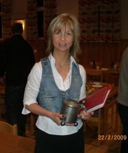 Mari på Västsvenska taxklubbens årsmöte.