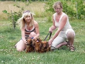 Mari och Carina med Sessan,Queene och Balli!