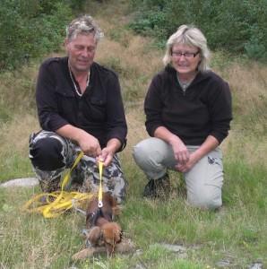 Bill och Anette med viltspårstaxen!