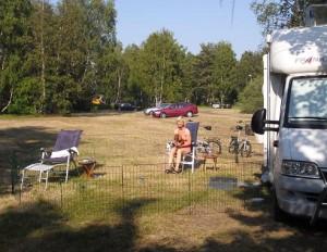 Camping vid stranden.