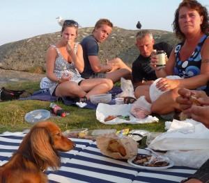 Picknick med kära vänner.