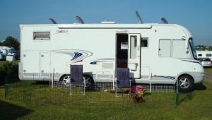 På Apelvikens camping.