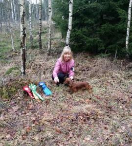 Lite uppladdning i skogen med rosetter!