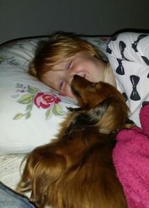 Godnatt Alva - här vill jag också ligga...