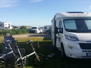Vår campingplats.