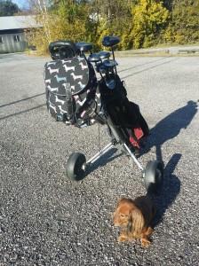 Ryggsäcken passar perfekt på våra golfrundor!