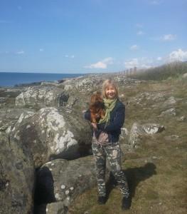 På strandpromenaden med Sessan.