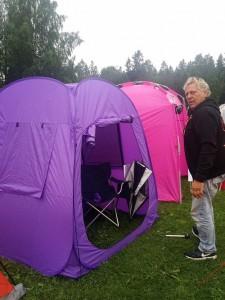 Husse med nya tältet!