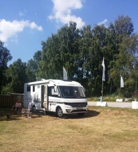 Soligt på Almöns camping!