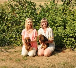 Matte med moster Sessan och Carina med Ballis dotter Alexandra.