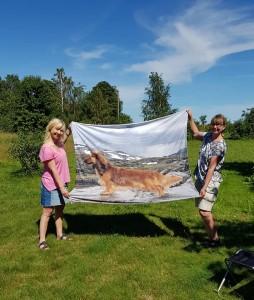 Tusen tack Carina för finaste filten med mamma Queene!!!