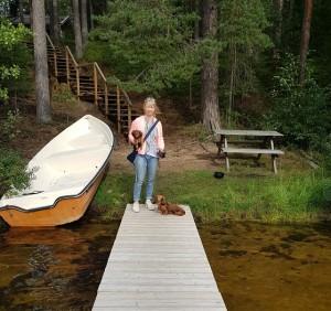 Nere vid den fina sjön i Tiveden.