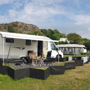 På Wiggersviks camping.