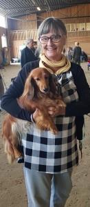 Anita med finaste Josa som blev BIS VETERAN!!!